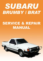 Subaru Brumby, Brat and Shifter Workshop Manual