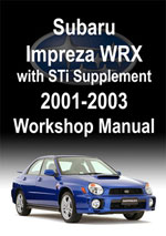 Subaru WRX and STi2001-2003  Workshop Manual