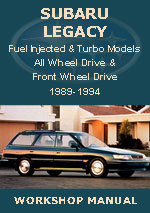 Subaru Legacy 1989-1994 Workshop Manual
