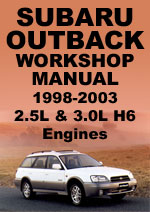 Subaru Outback Workshop Manual
