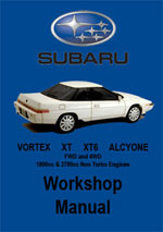 Subaru Vortex, Alcyone, XT, XT6 Workshop Manual